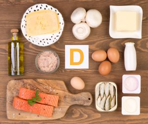 Image of various foods containing Vitamin D.