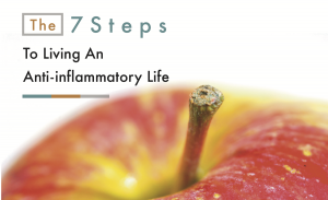 Image of the 7 steps of living an anti-inflammatory life. Ensuring you don't have periodontal disease can also help.
