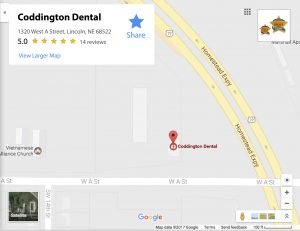 dental coddington lincoln ne map