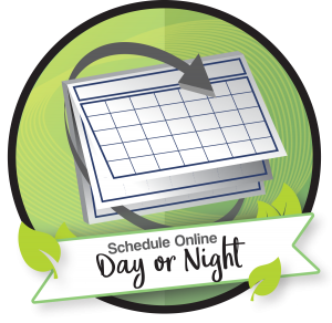 Schedule Online Day or Night logo.