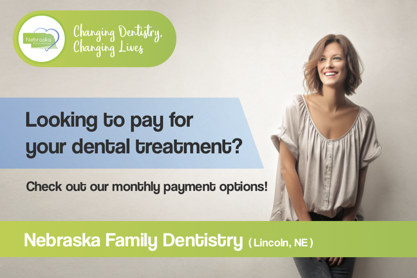 "Image of a banner ""Looking to pay for your dental treatment?"" If you are a new patient, we have options for you."
