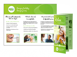 Image of a brochure of easy ways for any new patient to relax while at our office.